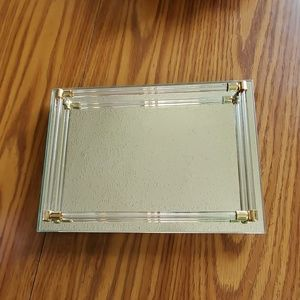 Vintage Glass Vanity Tray